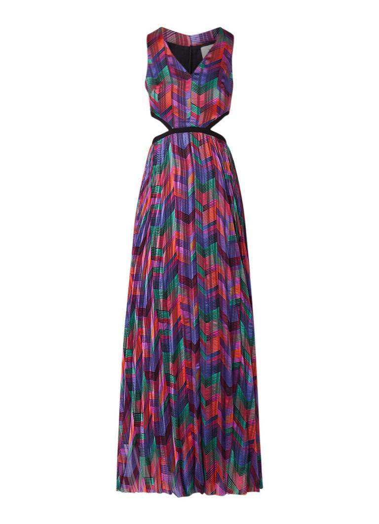 BA&SH Pia maxi-jurk van satijn met cut-out paars