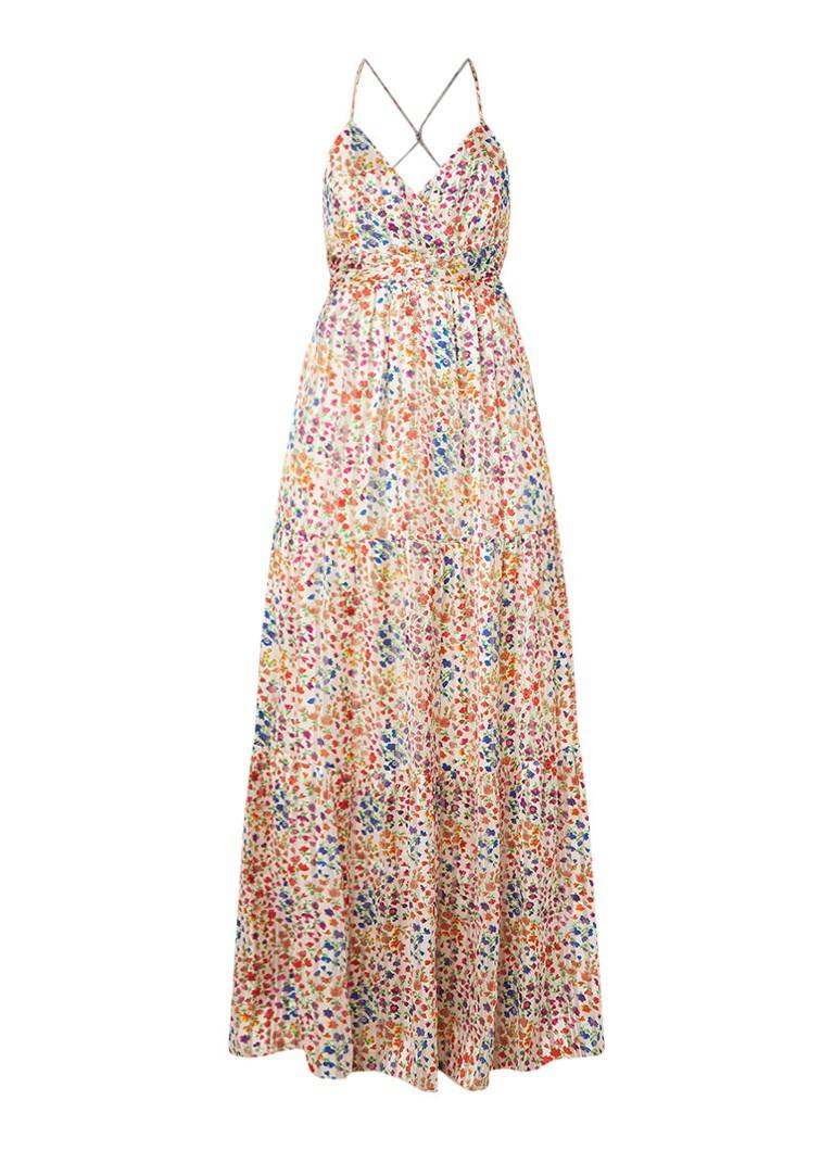 BA&SH Rosy maxi-jurk met bloemendessin wit