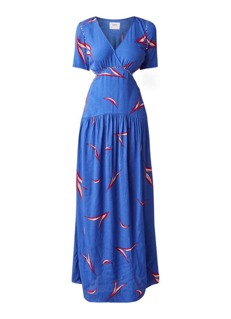 BA&SH Tiana maxi-jurk van crêpe met dessin blauw
