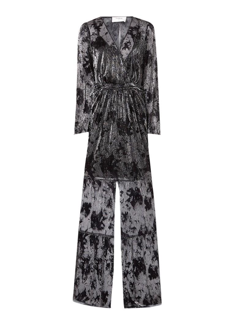 BA&SH Vianca semi-transprante maxi-jurk met lurex zwart