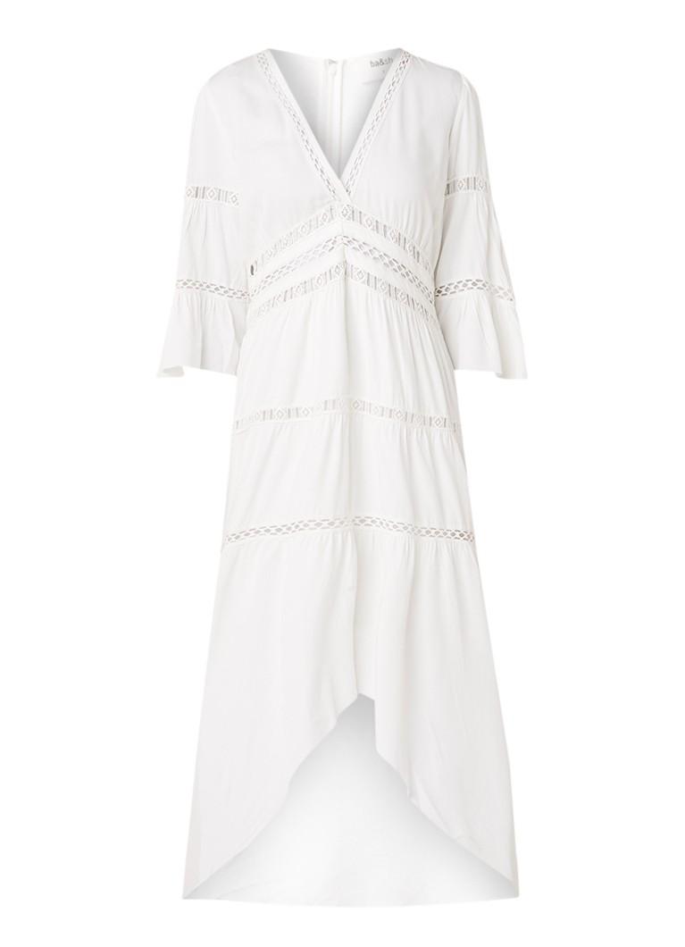 BA&SH Zabel maxi-jurk met broderie gebroken wit