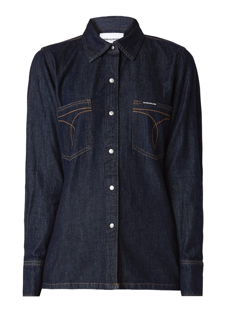 Calvin Klein Omega blouse van denim