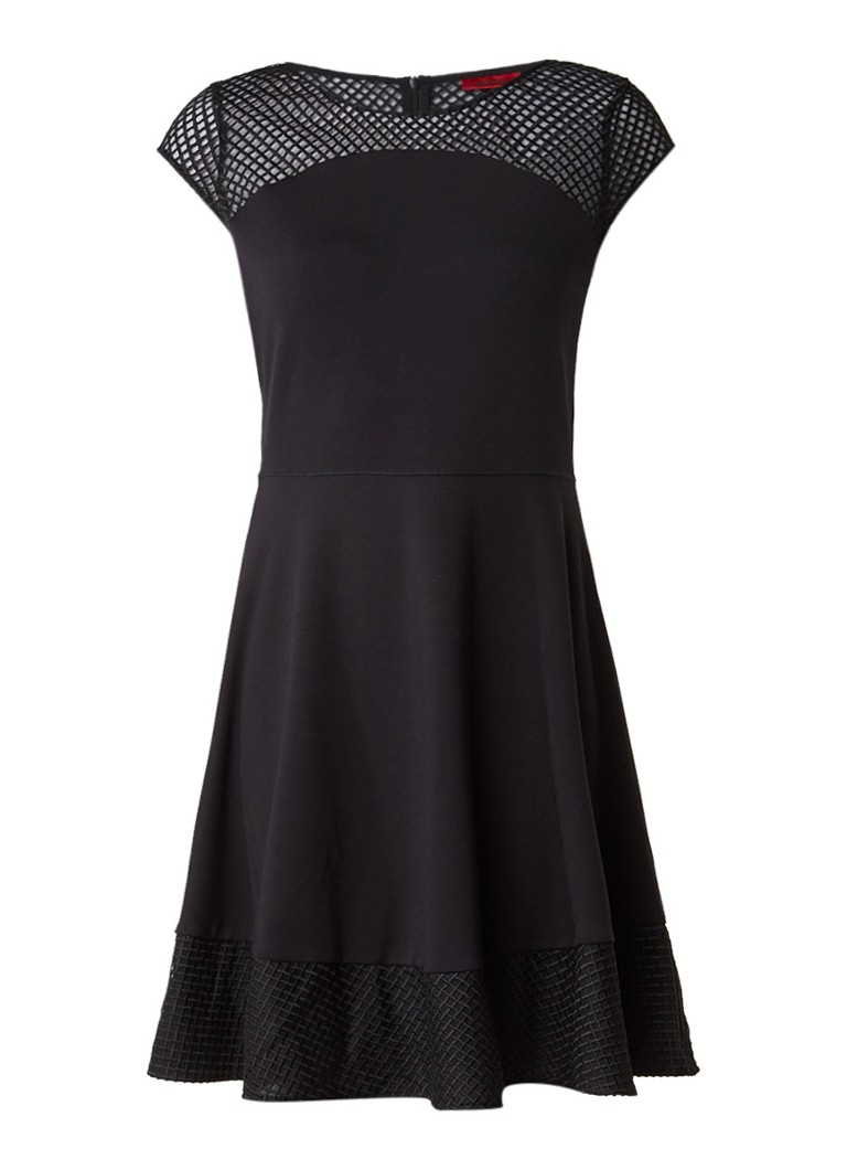 HUGO BOSS Diranda A-lijn jurk met bovenzijde van kant