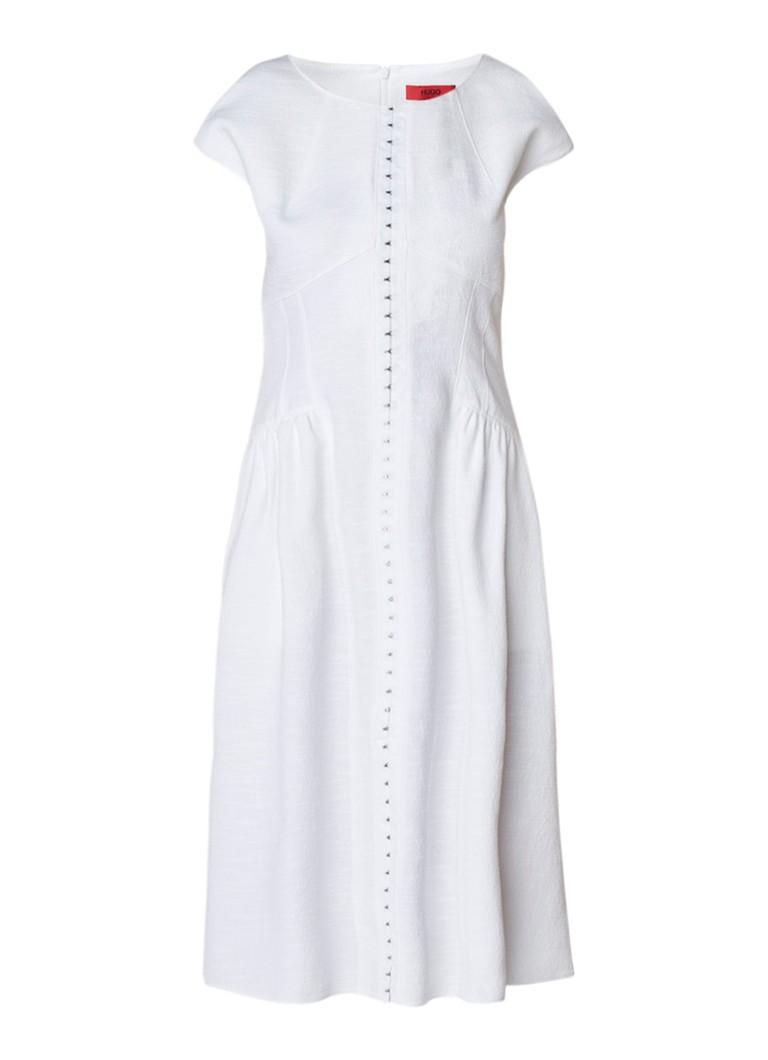 Hugo Boss Kerstine A-lijn jurk met haaksluiting wit