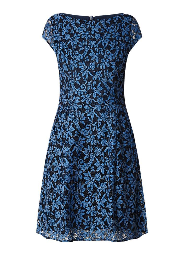 Hugo Boss Kasalli A-lijn jurk van gebloemd kant blauw