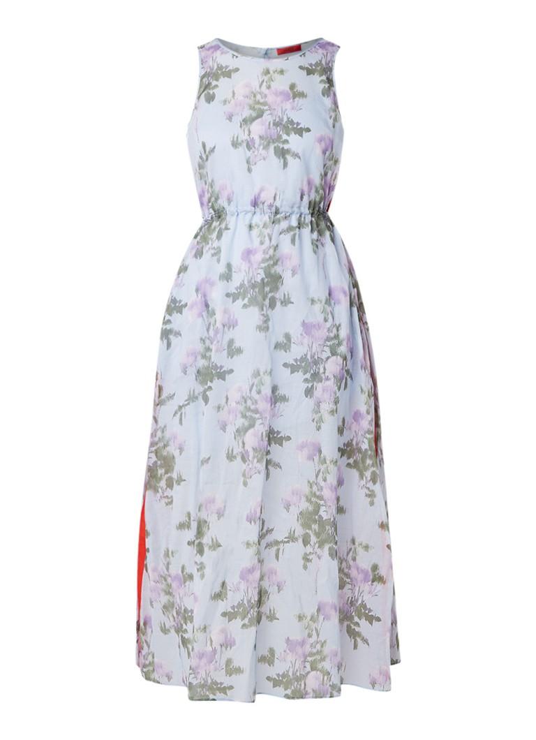 Hugo Boss Kalanis maxi-jurk met bloemendessin lichtblauw