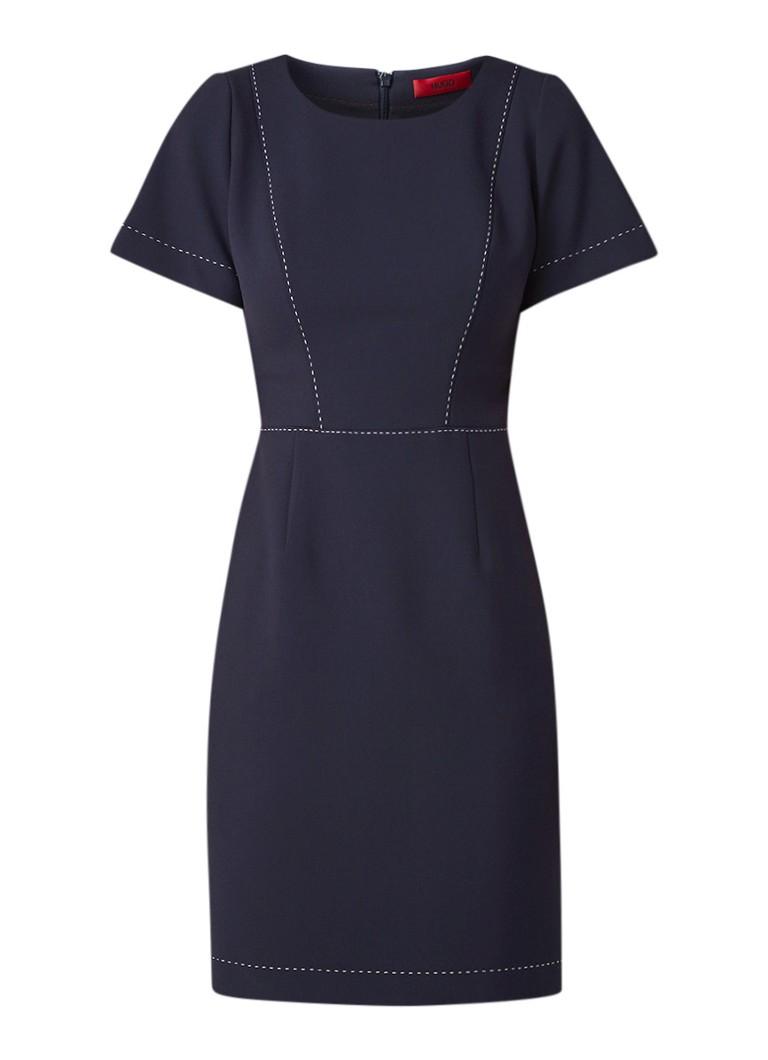 Hugo Boss Kajessi tuniekjurk met contrasterende stiksels donkerblauw