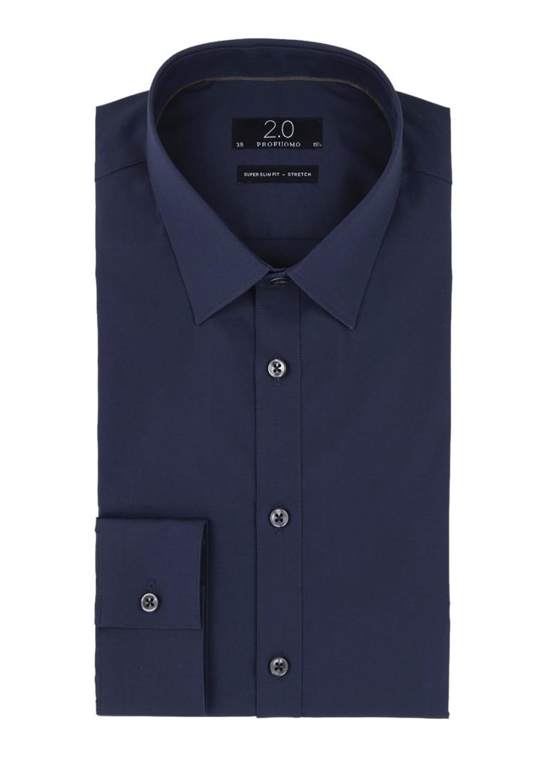 Profuomo Super slim fit overhemd in katoenblend