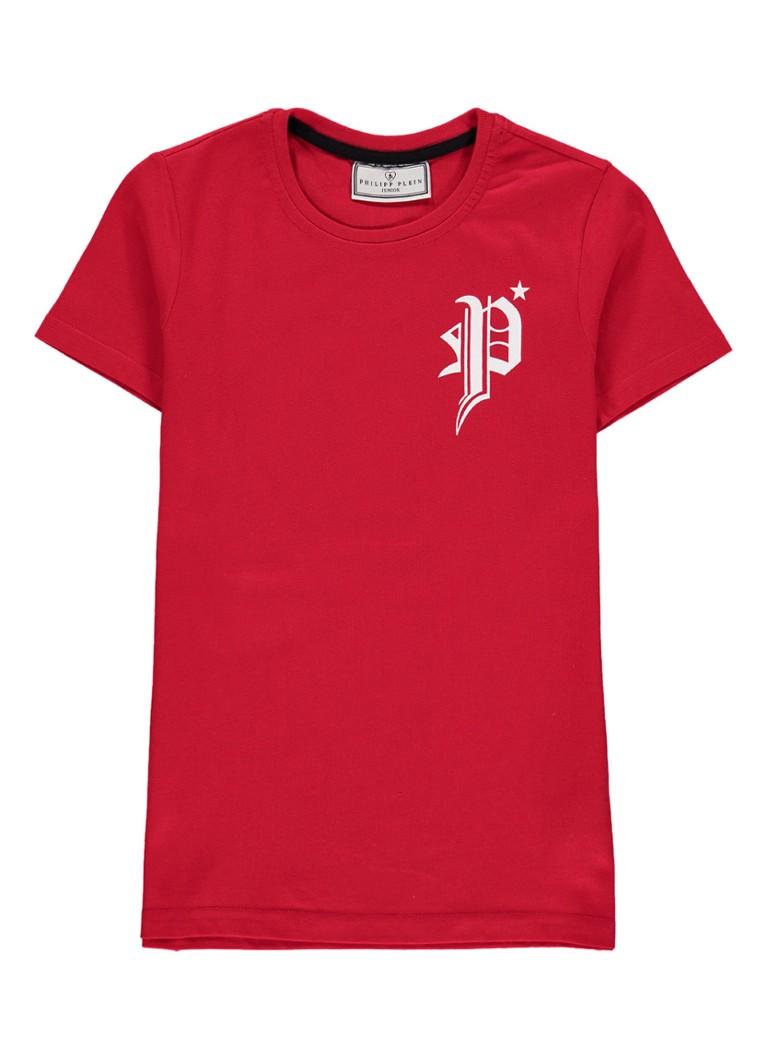 Philipp Plein Coo Boy T-shirt met logo opdruk