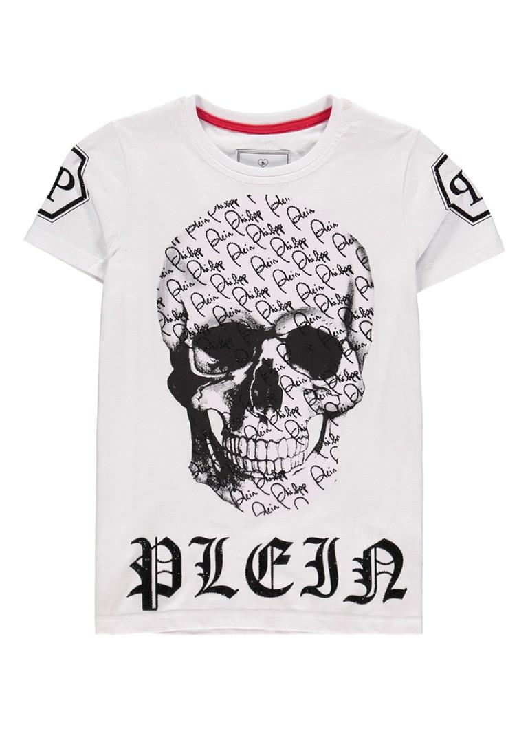 Philipp Plein Lover Boy T-shirt met skullprint en strass