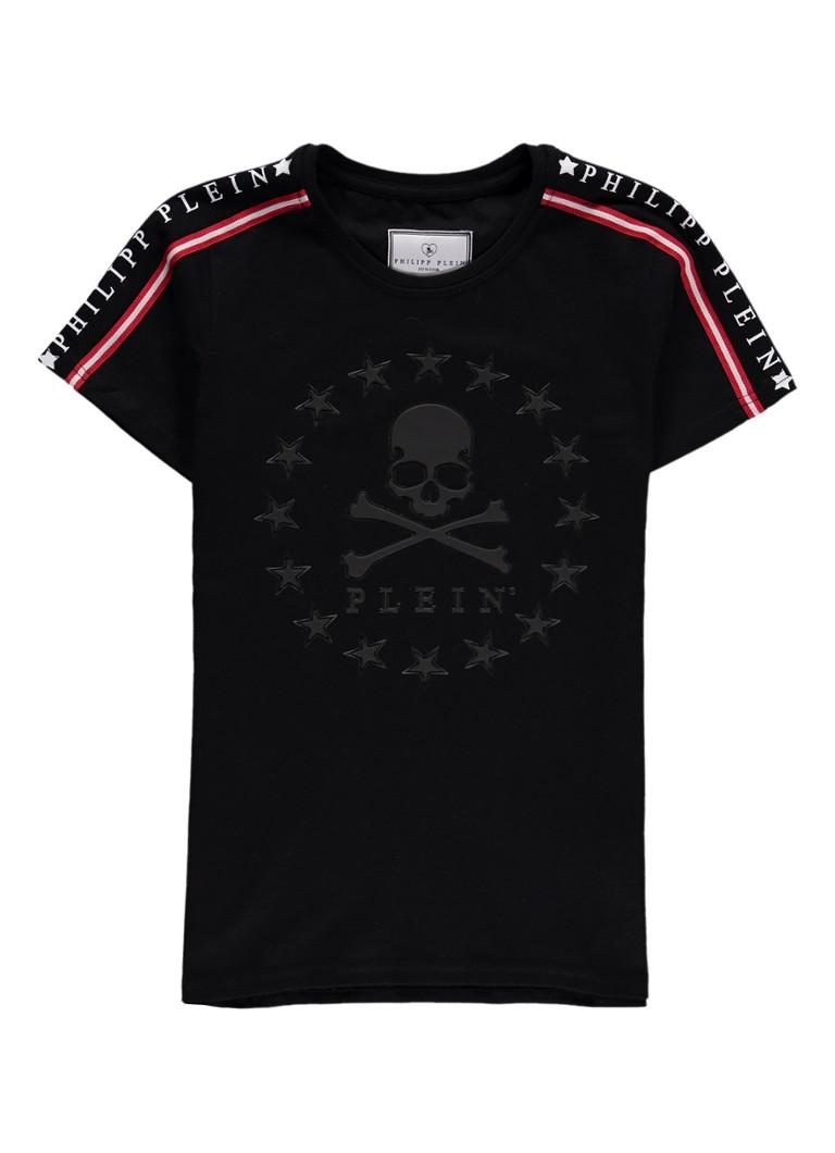 Philipp Plein Searching T-shirt met contrastbies en opdruk