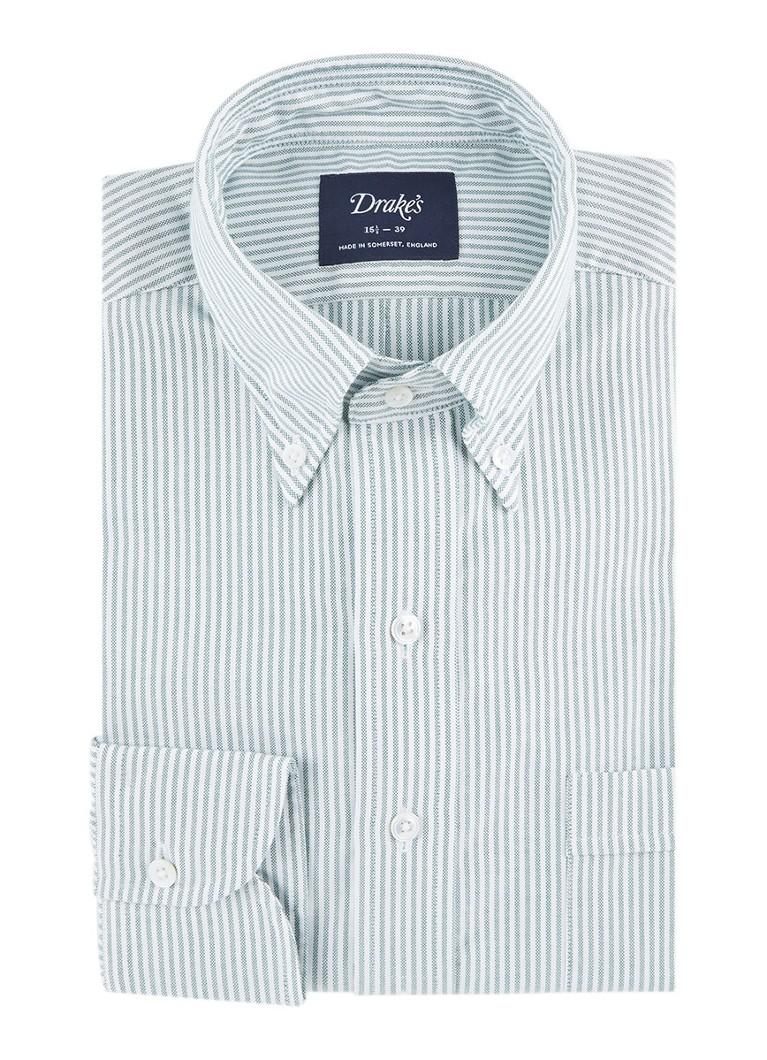 Drake's Regular fit overhemd met button down-boord