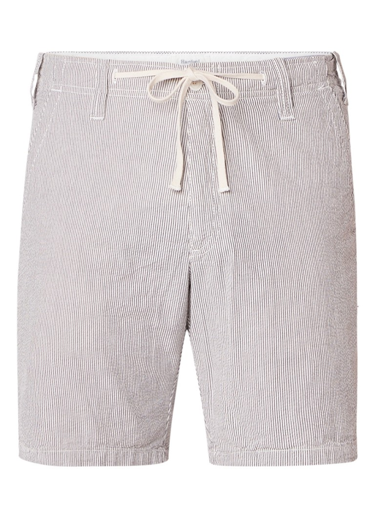 Hartford Berry shorts van katoen met streepdessin