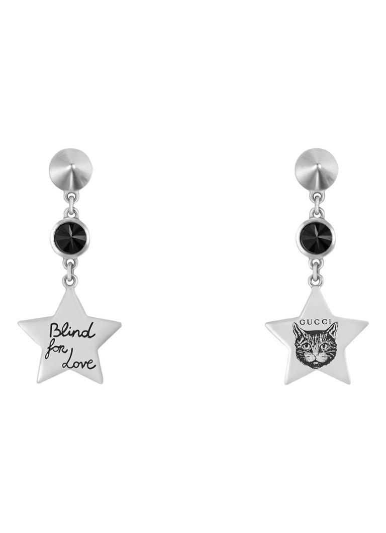 Gucci Blind For Love oorhangers van zilver met zirkonia YBD502165001