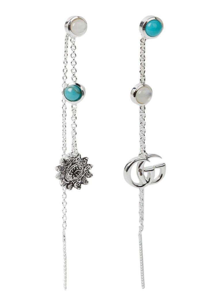 Gucci Double G Flower oorhangers van sterling zilver