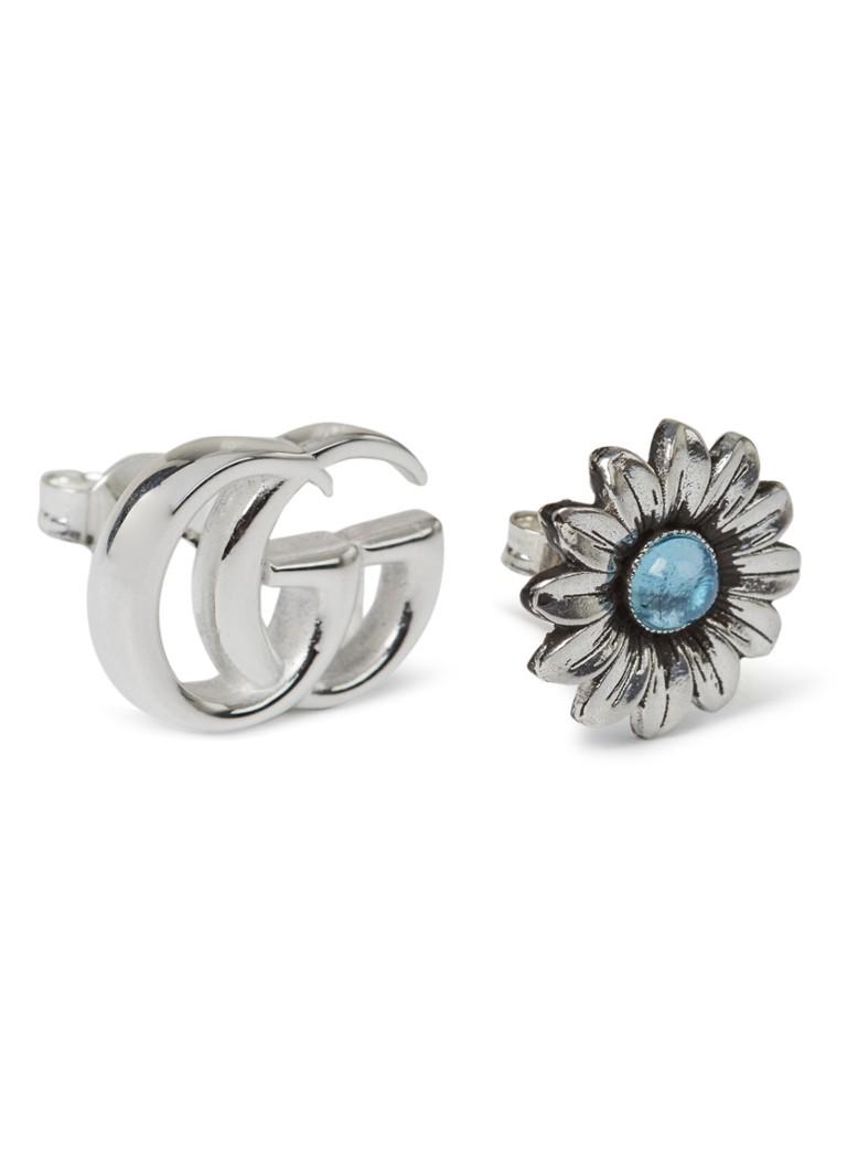 Gucci Double G Flower oorstekers van sterling zilver YBD527344001