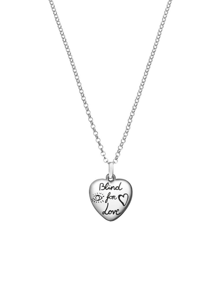 Gucci Blind for Love ketting van zilver YBB455542001