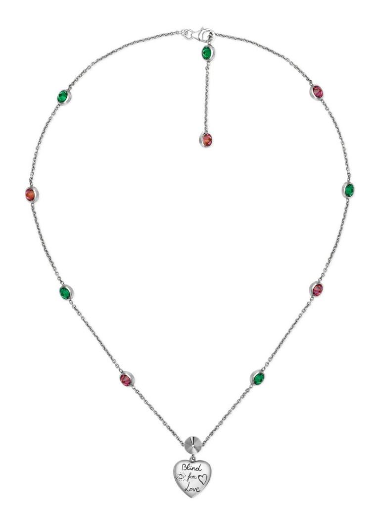 Gucci Blind For Love ketting van zilver met zirkonia J28748522