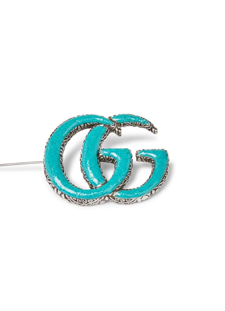 Gucci Enameled Double G broche van sterling zilver