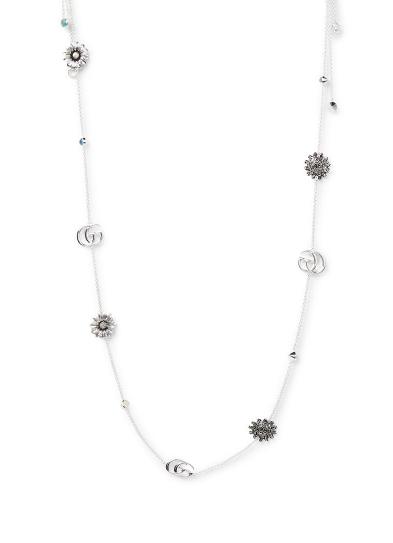 Gucci Double G Flower ketting van sterling zilver YBB527402001