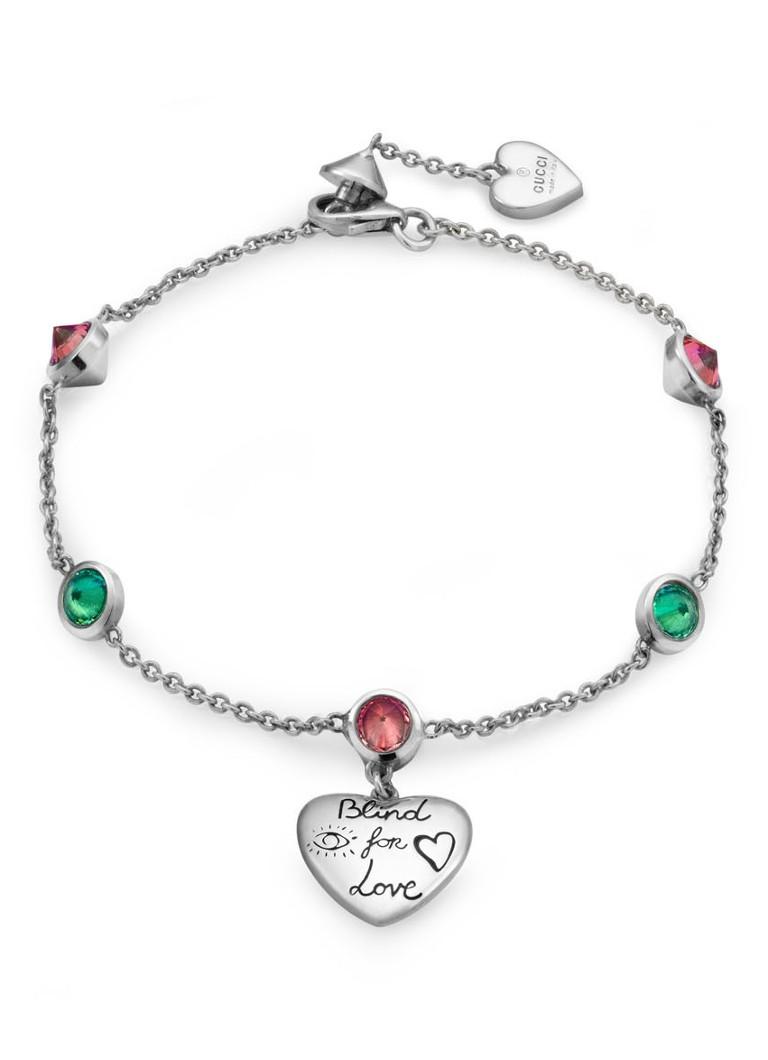 Gucci Blind For Love armband van zilver met zirkonia J28748522
