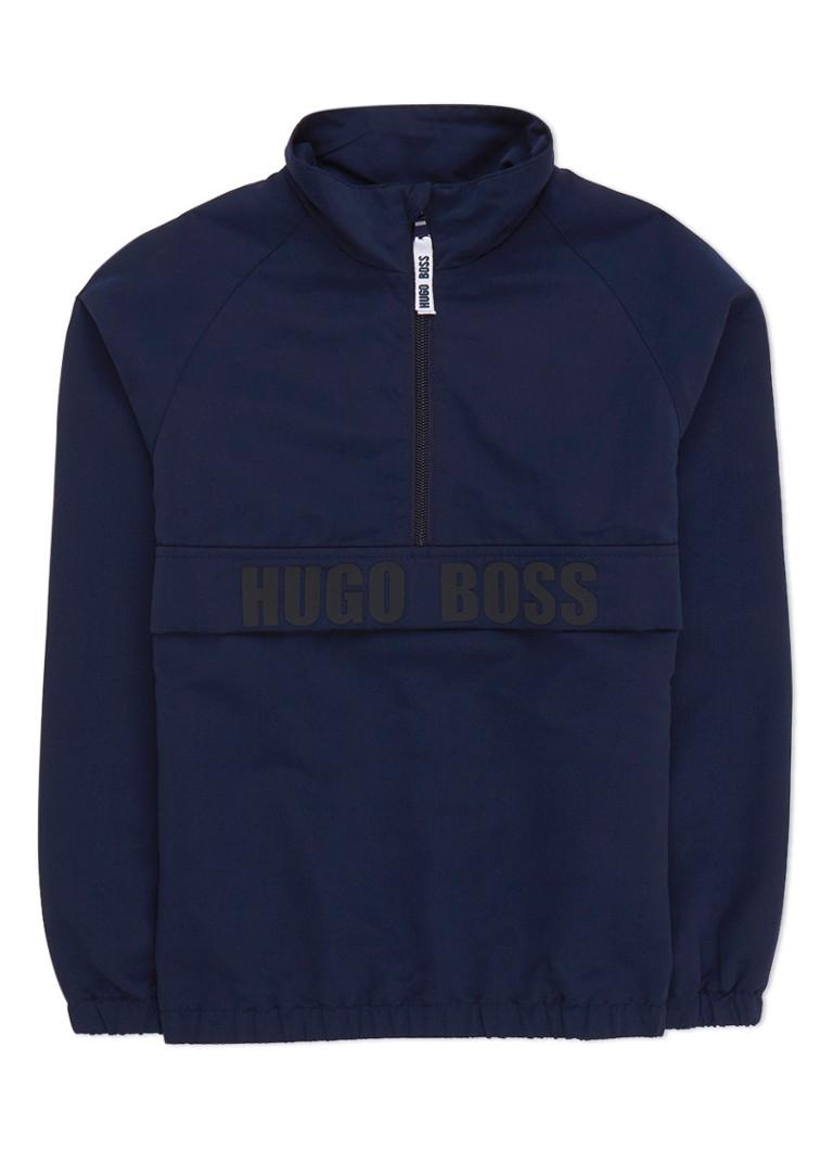 HUGO BOSS Anorak met logo applicatie