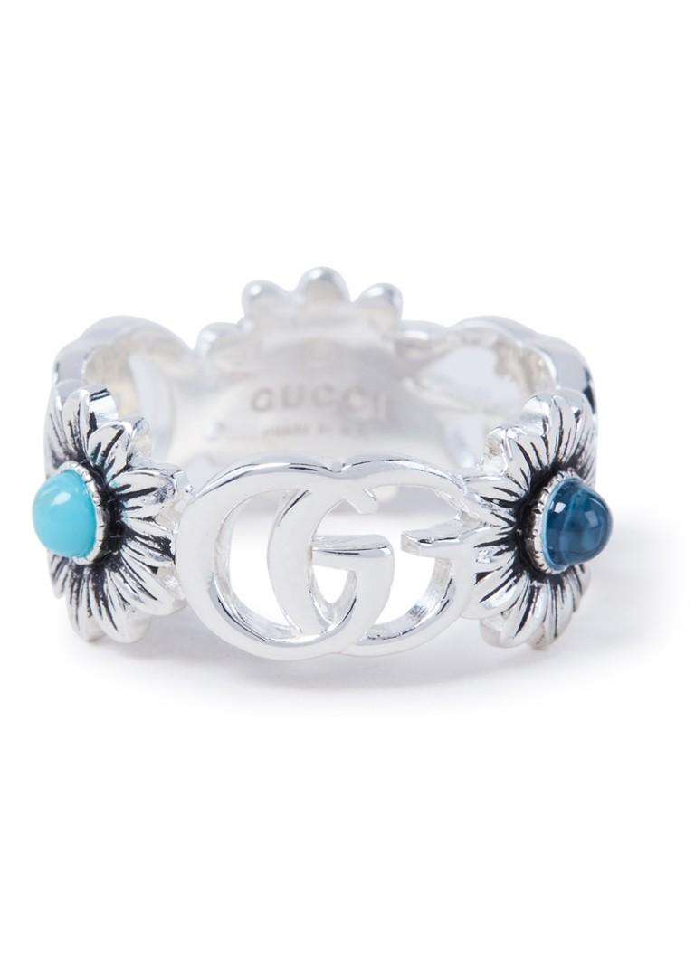 Gucci Double G Flower ring van zilver YBC527394001