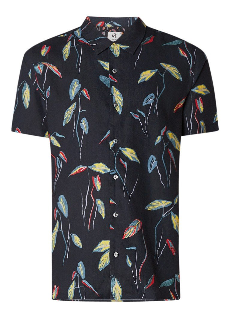 Paul Smith Rami casual fit overhemd met bladdessin