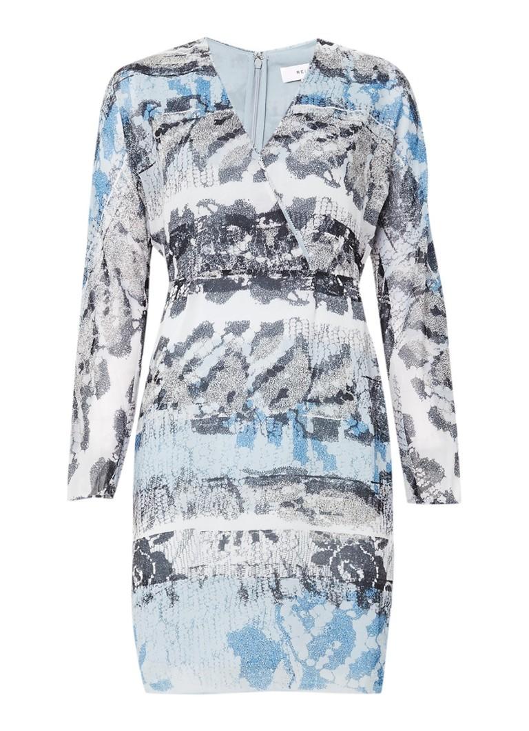 Reiss Valetta jurkje met abstracte print