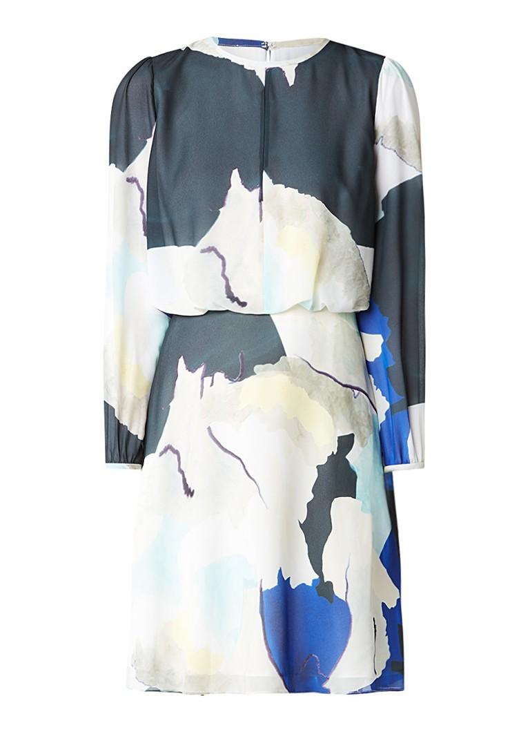 Reiss Neave semi-transparante jurk met dessin multicolor