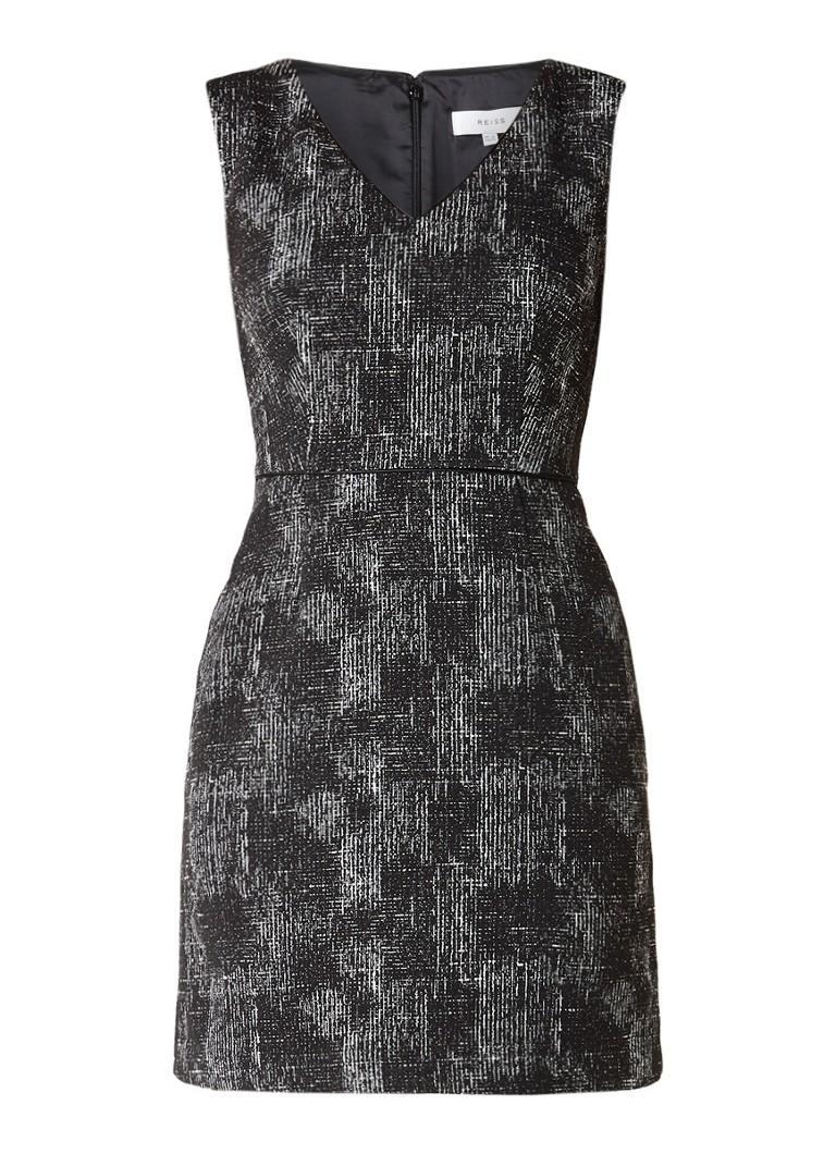 Reiss Enni jurk van jacquard met zakken zwart