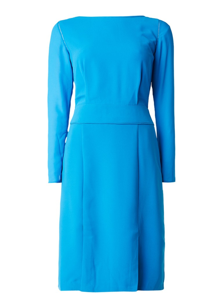 Reiss Alessa semi-transparante jurk met split blauw