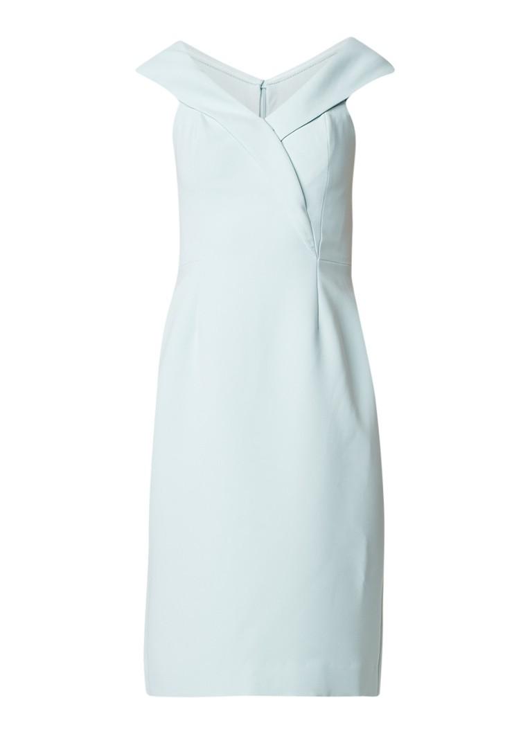 Reiss Haddi off-shoulder jurk met overslag mint