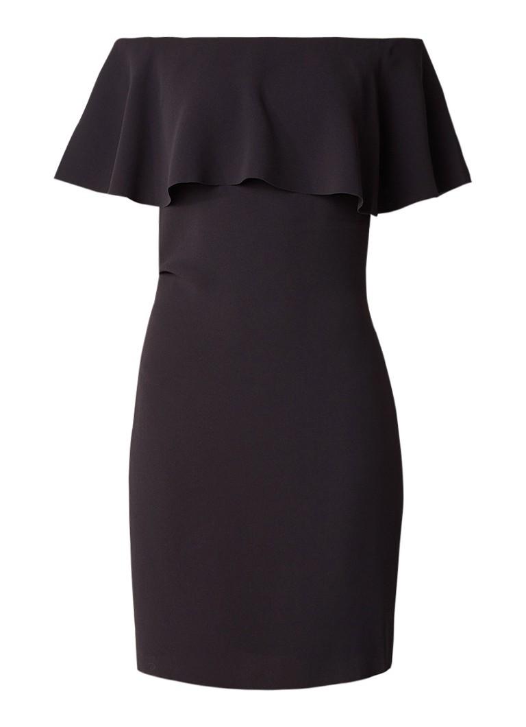 Reiss Balm off shoulder jurk van crêpe zwart