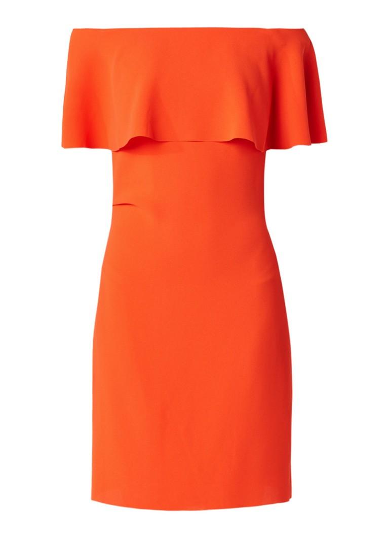 Reiss Balm off shoulder jurk van crêpe oranjerood