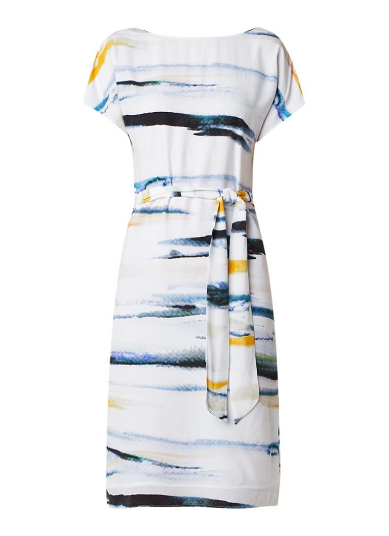 Reiss Alba tuniekjurk van zijde met gekleurd dessin wit