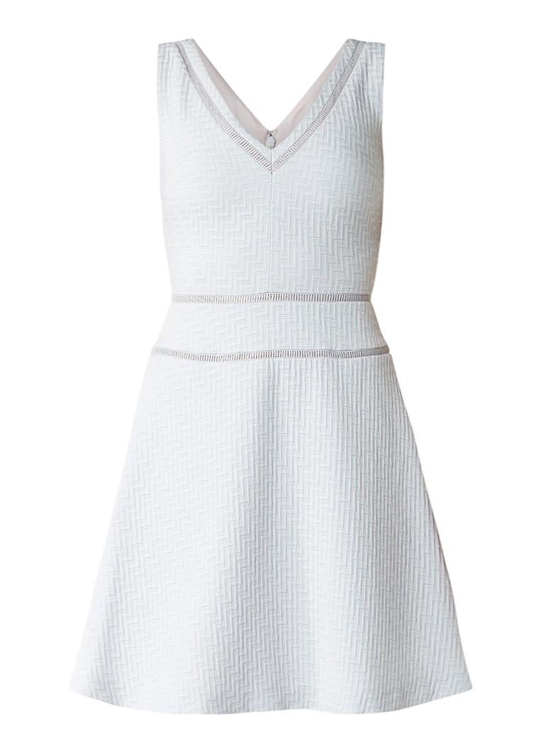 Reiss Nelly A-lijn jurk met structuur lichtgrijs
