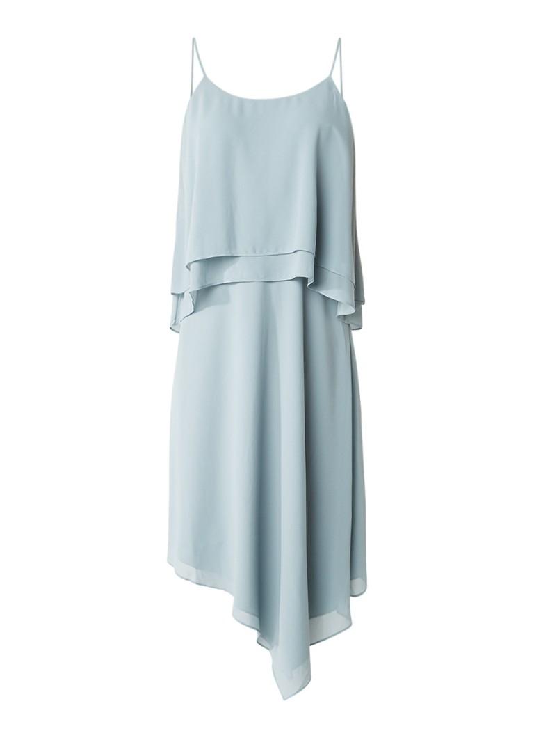 Reiss Ansley midi-jurk met overlay mint