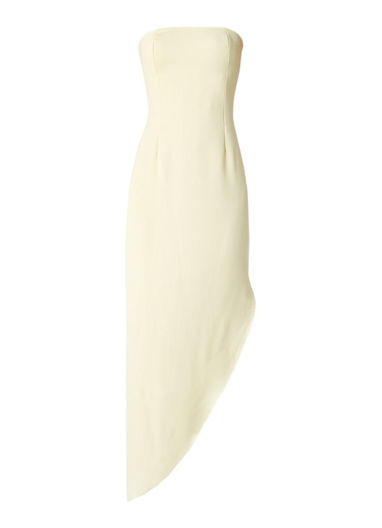Reiss Rima strapless asymmetrische jurk met split lichtgeel