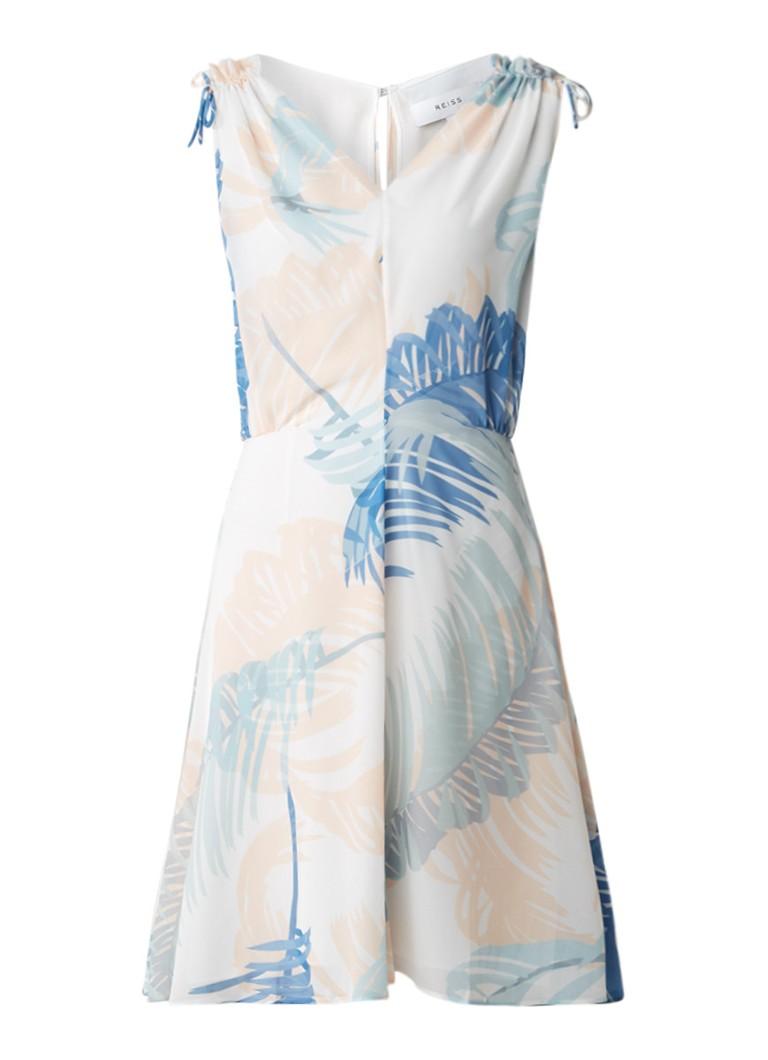 Reiss Sirus A-lijn jurk met print wit