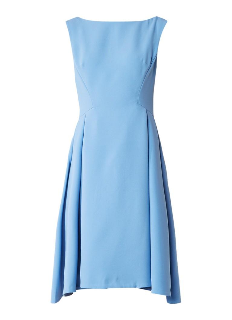 Reiss Eri A-lijn jurk met rugdecolleté lichtblauw