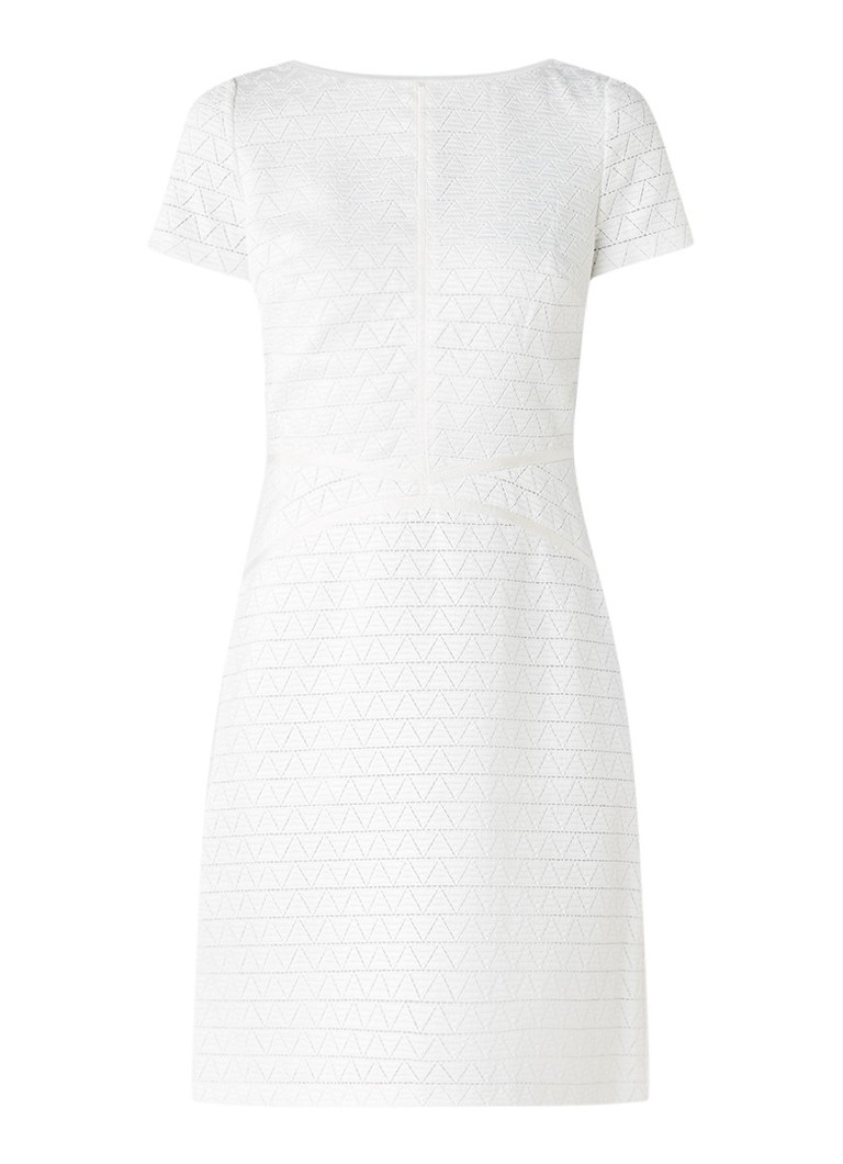 Reiss Magnolia jurk van kant met cut-out op de rug gebroken wit