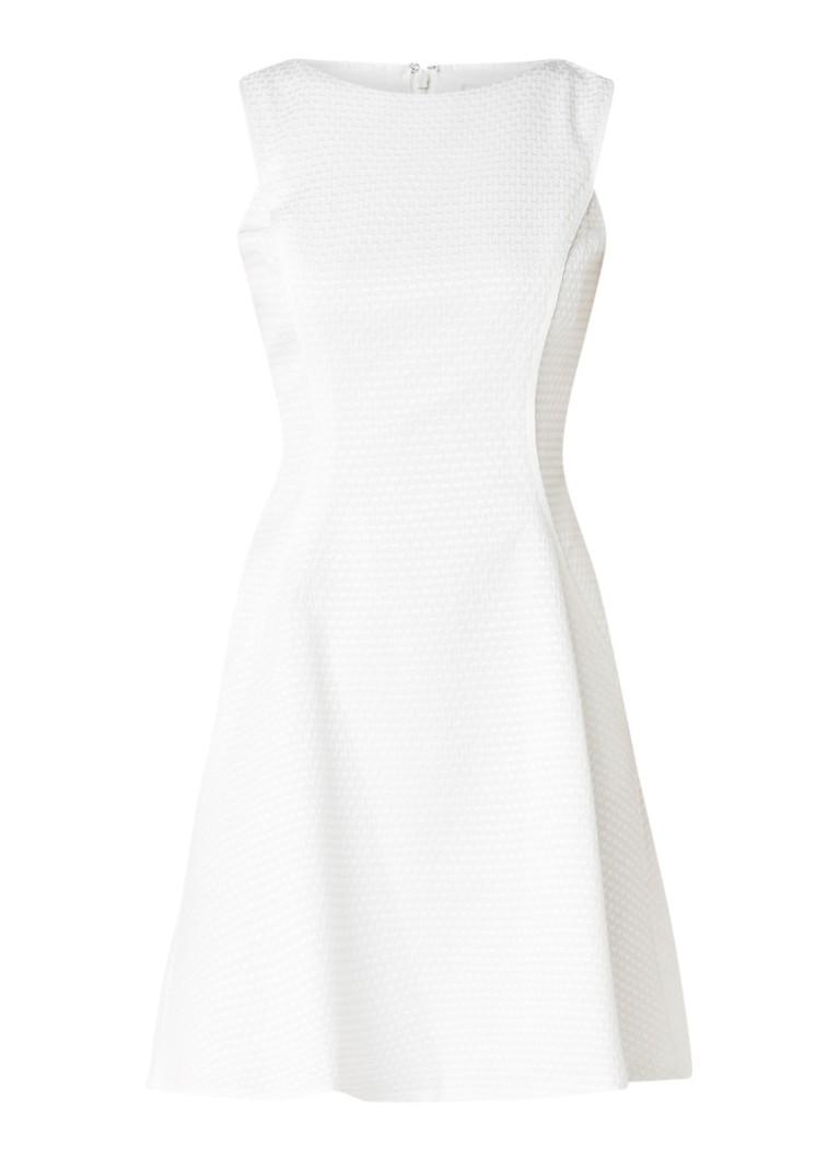 Reiss Cara A-lijn jurk met ingeweven structuur gebroken wit