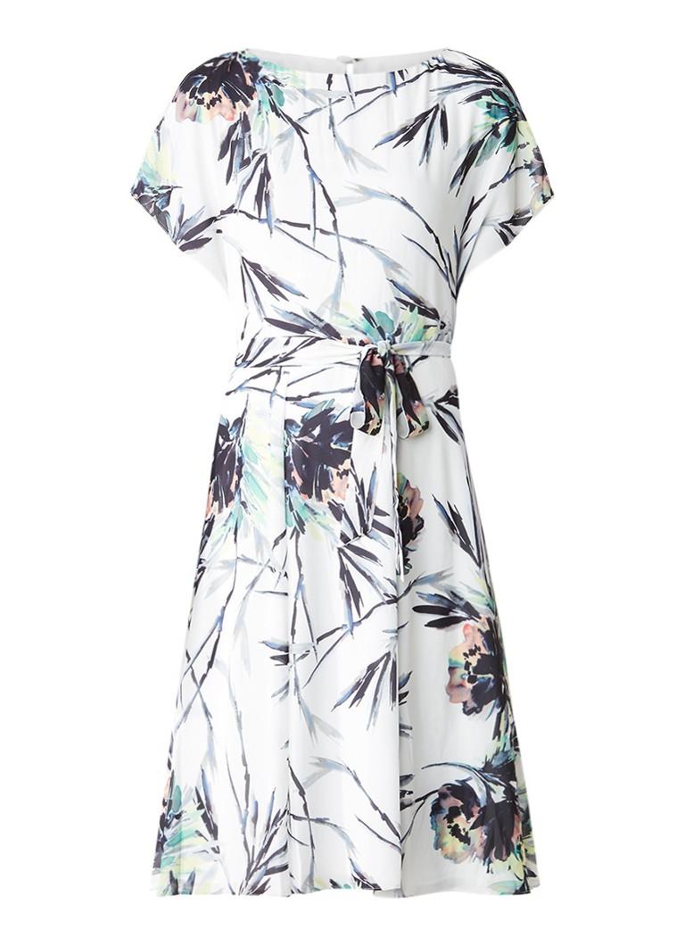 Reiss Naomi cold shoulder jurk met dessin wit