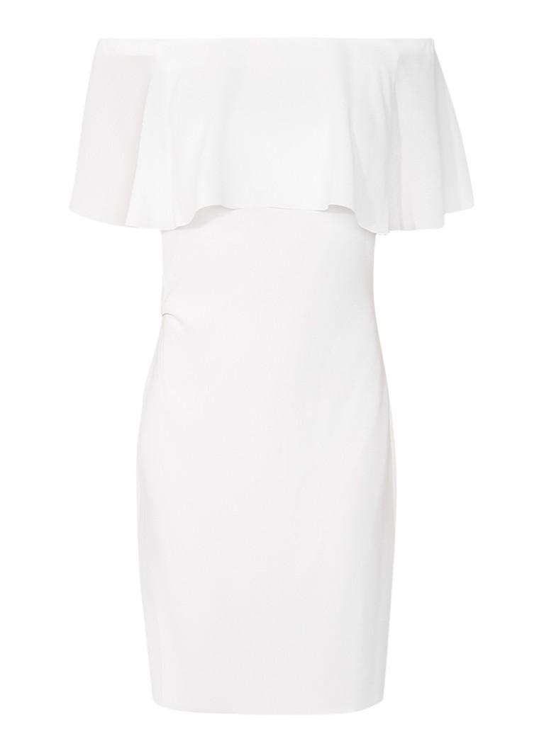 Reiss Balm off shoulder jurk met volant gebroken wit