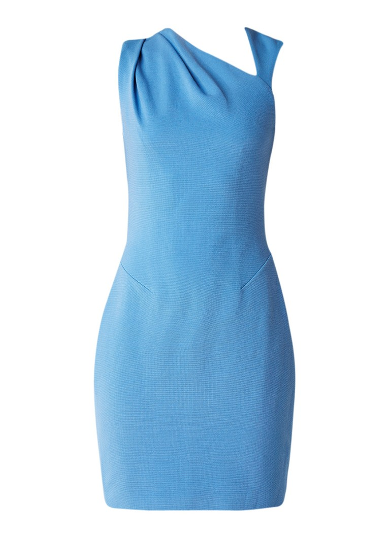 Reiss Katerina mini-jurk met plooidetail lichtblauw
