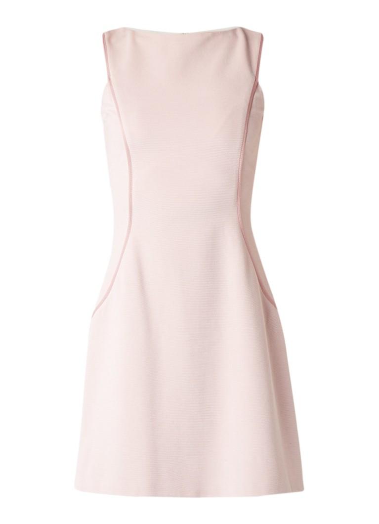 Reiss April mouwloze A-lijn jurk met siernaad roze