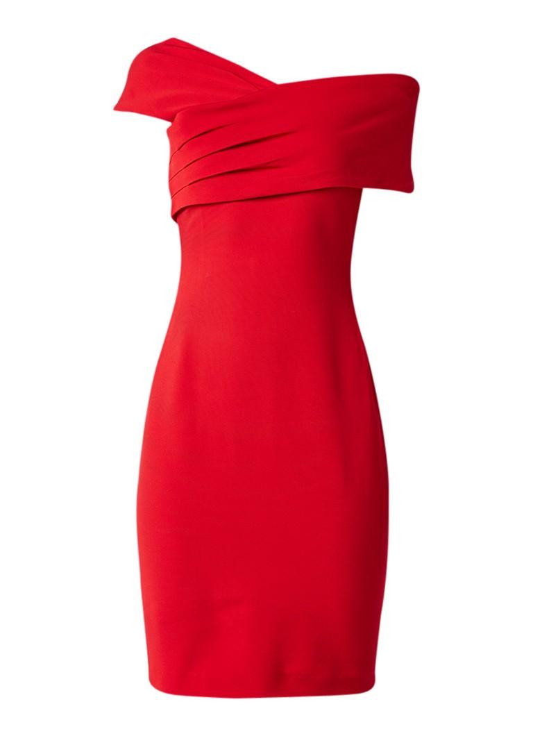 Reiss Christiana jurk met draperie detail rood
