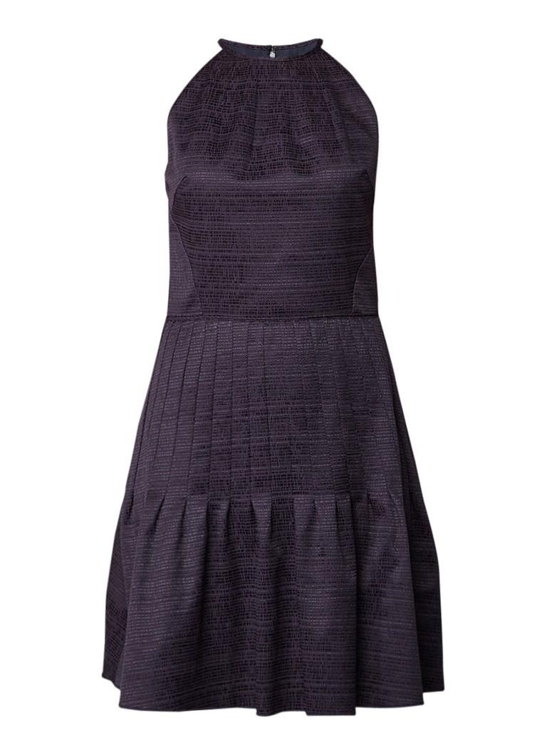 Reiss Marelle midi-jurk met volant zwart