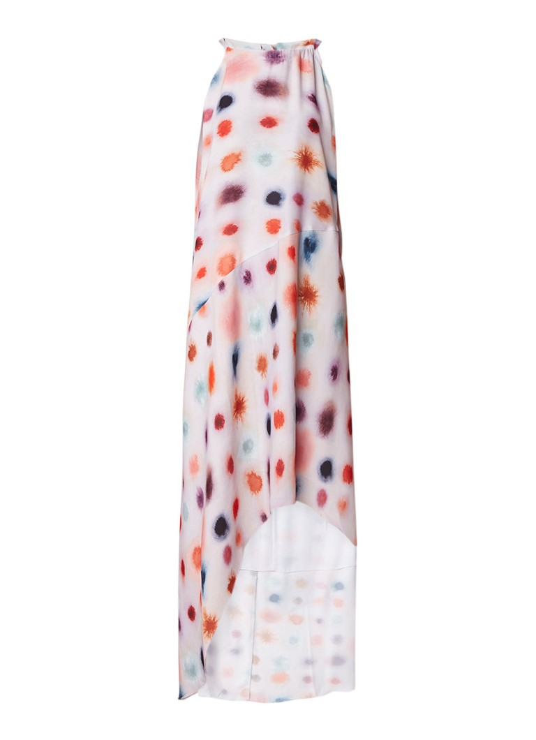Reiss Mega Dot halterjurk met gestipt dessin multicolor